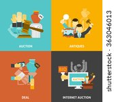 auction deal icons set  | Shutterstock . vector #363046013