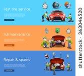auto mechanic service flat... | Shutterstock . vector #363046520