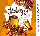 oktoberfest festival poster | Shutterstock . vector #363048518