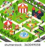 amusement park isometric | Shutterstock . vector #363049058