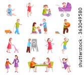 children characters set | Shutterstock . vector #363049580