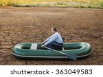 business man will rows home for ... | Shutterstock . vector #363049583