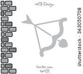 web line icon. cupid's arrow. | Shutterstock .eps vector #363050708