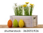 easter decoration   wooden box... | Shutterstock . vector #363051926