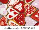 valentine's day cookies. heart...   Shutterstock . vector #363056573