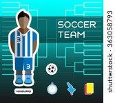 soccer team   honduras....   Shutterstock . vector #363058793