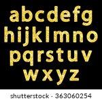 cute vintage golden glitter... | Shutterstock . vector #363060254
