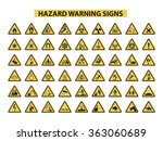 set of hazard warning signs on... | Shutterstock .eps vector #363060689