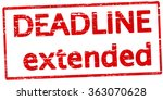rubber stamp with text deadline ... | Shutterstock .eps vector #363070628