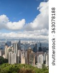 hong kong's skyline viewed from ... | Shutterstock . vector #363078188