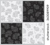 Set Of 4 Vector Floral Seamless ...