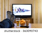 tv  television watching ... | Shutterstock . vector #363090743