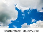 clouds and blue sky for... | Shutterstock . vector #363097340