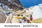 santorini   the look from town... | Shutterstock . vector #363097616