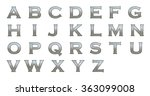 alphabet from silver metallic... | Shutterstock . vector #363099008