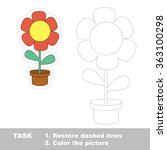 flower in vector to be traced.... | Shutterstock .eps vector #363100298