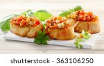 delicious vegetable bruschetta... | Shutterstock . vector #363106250