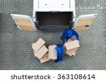 directly above shot of delivery ... | Shutterstock . vector #363108614