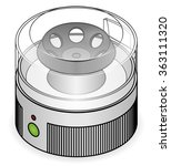 a laboratory centrifuge. | Shutterstock .eps vector #363111320