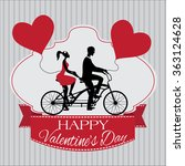 valentine's day card with ribbon | Shutterstock .eps vector #363124628