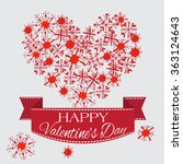 happy valentine's day card with ... | Shutterstock .eps vector #363124643