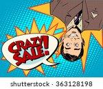 crazy sale announcement man... | Shutterstock .eps vector #363128198