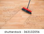 high angle view of broom... | Shutterstock . vector #363132056