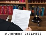 high angle view of male judge...   Shutterstock . vector #363134588