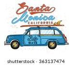 van surf illustration  t shirt... | Shutterstock .eps vector #363137474