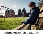 Upset Problem Child Sitting On...