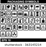 set of packaging symbols  | Shutterstock .eps vector #363145214