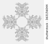 ornament of ancient incas.... | Shutterstock . vector #363156044