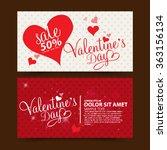 valentine's day sale | Shutterstock .eps vector #363156134