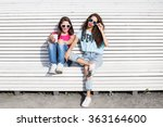 Two Young Girls. Portrait Of...