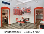 interior of modern cafe in red... | Shutterstock . vector #363175700