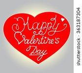 vector happy valentines day... | Shutterstock .eps vector #363187304
