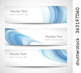 abstract header blue wave whit... | Shutterstock .eps vector #363197060
