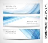 abstract header blue wave white ... | Shutterstock .eps vector #363197174