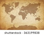 map of the world | Shutterstock . vector #363199838
