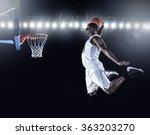 Basketball Player Scoring An...