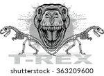 dinosaur t rex | Shutterstock .eps vector #363209600