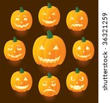jack o'lanterns for halloween ... | Shutterstock .eps vector #36321259