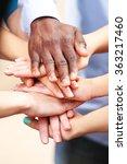 white caucasian and black afro...   Shutterstock . vector #363217460
