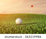 golf ball on grass course at...   Shutterstock . vector #363219986