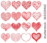decorative image of hearts  ... | Shutterstock . vector #363220463