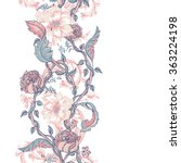 vintage floral baroque seamless ... | Shutterstock .eps vector #363224198