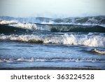 Waves Crashing On The Sea