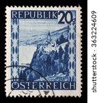 austria   circa 1945  stamp... | Shutterstock . vector #363224609