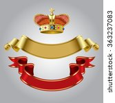 royal crown with gold and red... | Shutterstock .eps vector #363237083