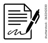pen signing a contract with... | Shutterstock .eps vector #363242030